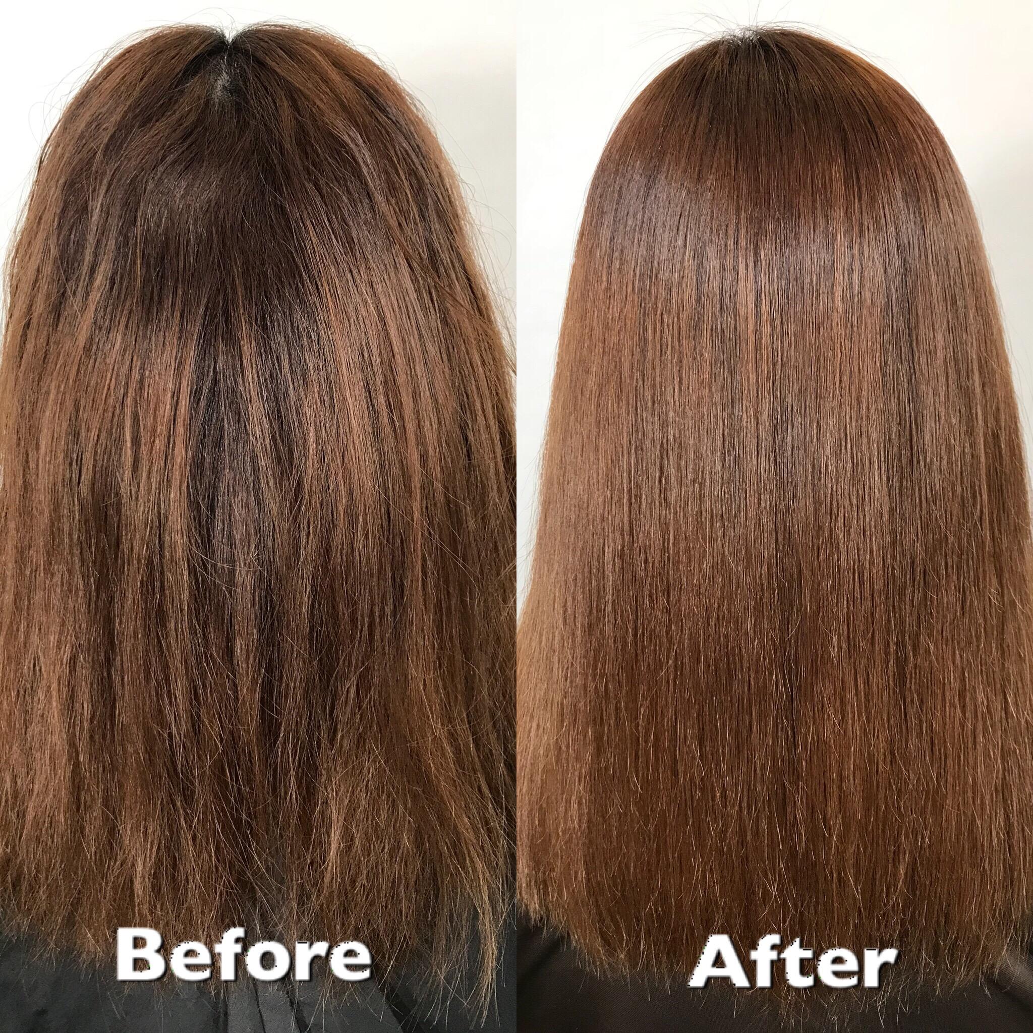 髪質改善 縮毛矯正 銀座 ツヤ髪