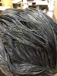 黒髪のカラーリング