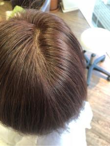 銀座カロンカラーリング明るい白髪染め