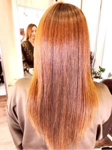 銀座カロンヘアカラー悩み明るい白髪染め髪質改善